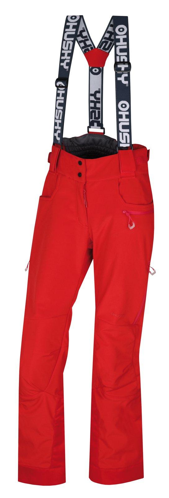 Husky Galti L jemná červená, XL Dámske lyžiarske nohavice