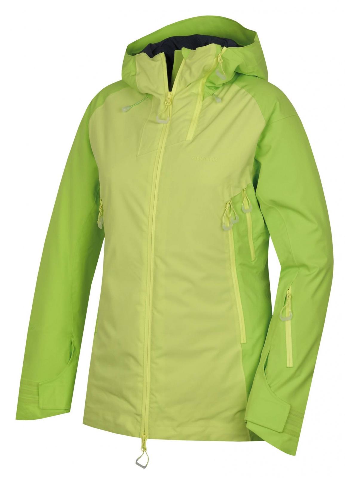 Husky Gambola L výrazne zelená / sv. zelená, M Dámska hardshell plnená bunda