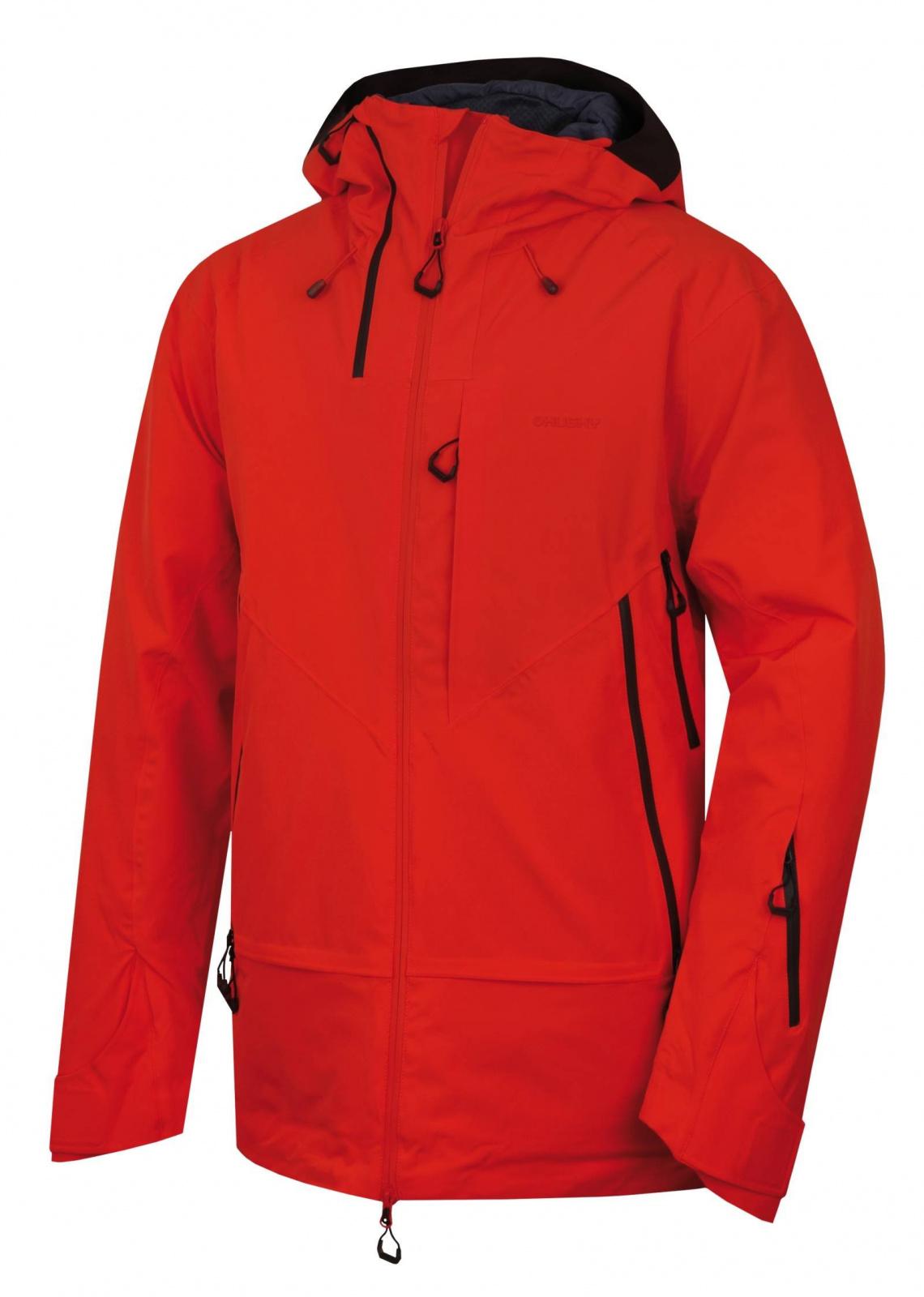 Husky Gambola M výrazne červená, XXL Pánska hardshell bunda