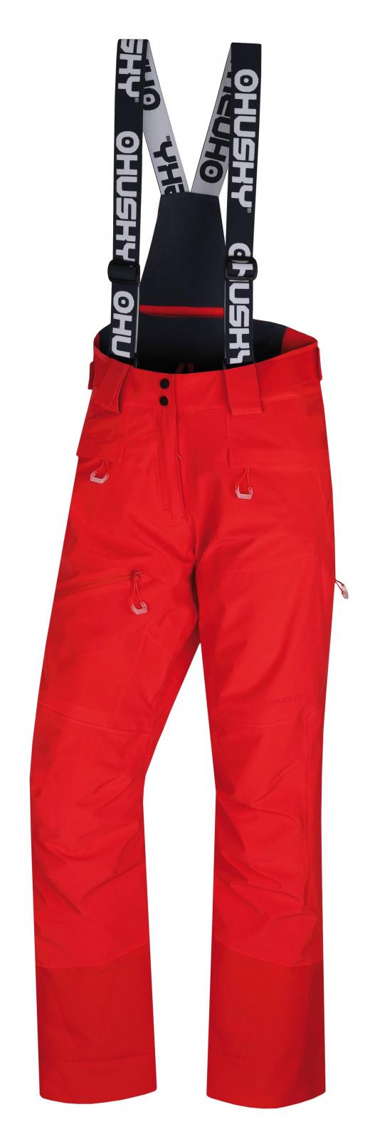 Husky Gilep L výrazne červená, XL Dámske lyžiarske nohavice
