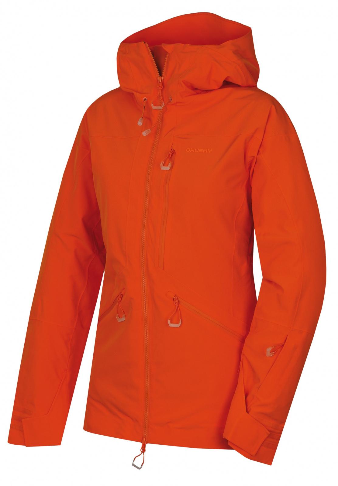 Husky Gomez l výrazne oranžová, M Dámska lyžiarská bunda