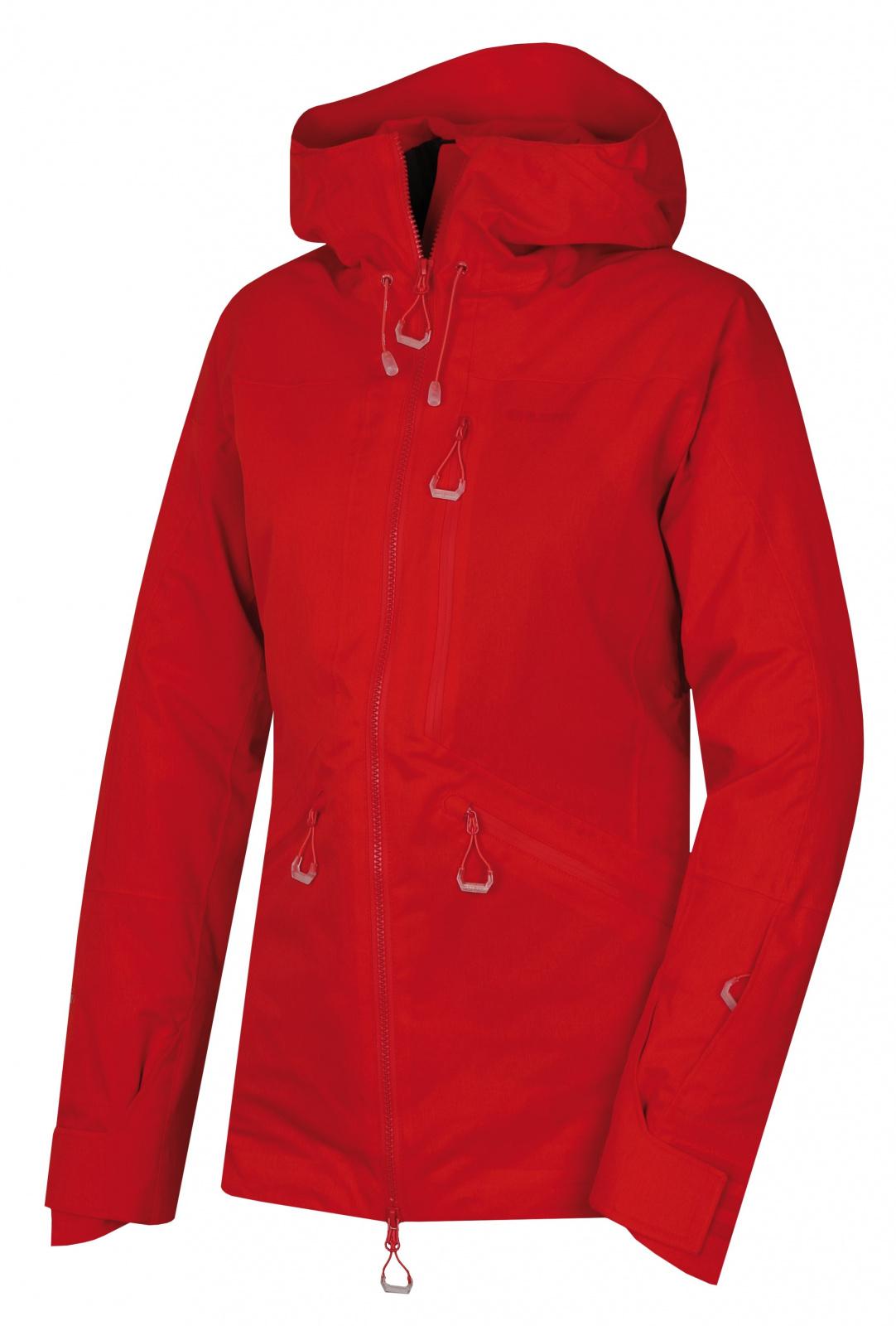 Husky Gomez l červená, XL Dámska lyžiarská bunda