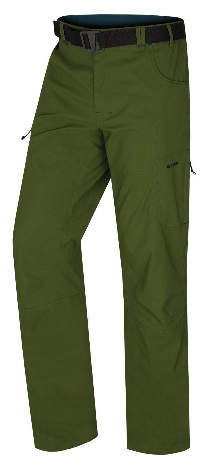 Husky Kahula M tm.zelená, M Pánske outdoor nohavice