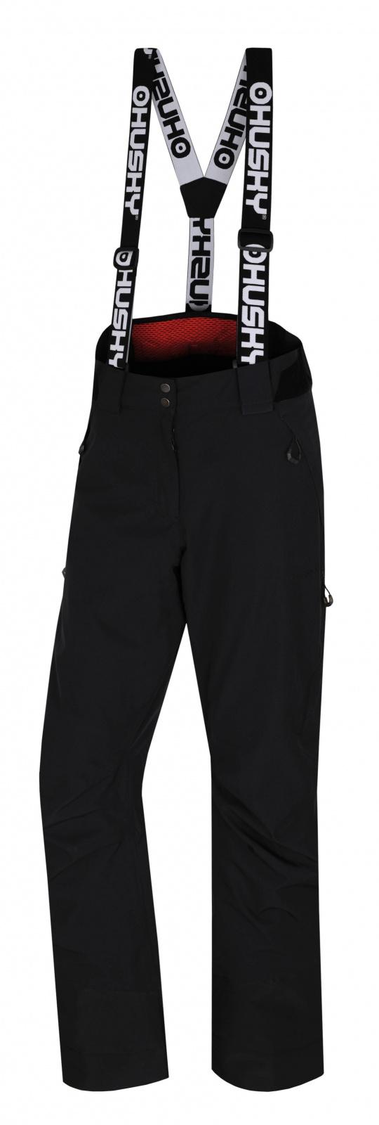 Husky Mitaly L čierna, XL Dámske lyžiarske nohavice