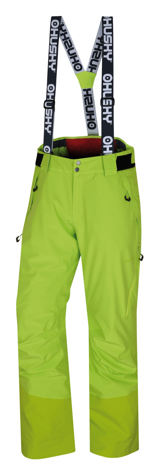 Husky Mitaly M výrazne zelená, XXL Pánske lyžiarske nohavice
