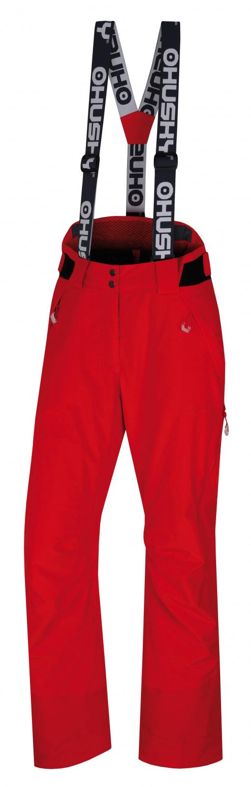 Husky Mitaly L červená, S Dámske lyžiarske nohavice
