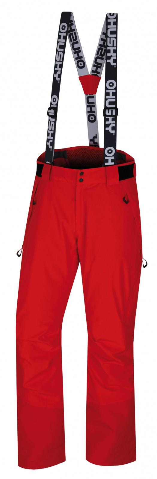 Husky Mitaly M červená, M Pánske lyžiarske nohavice