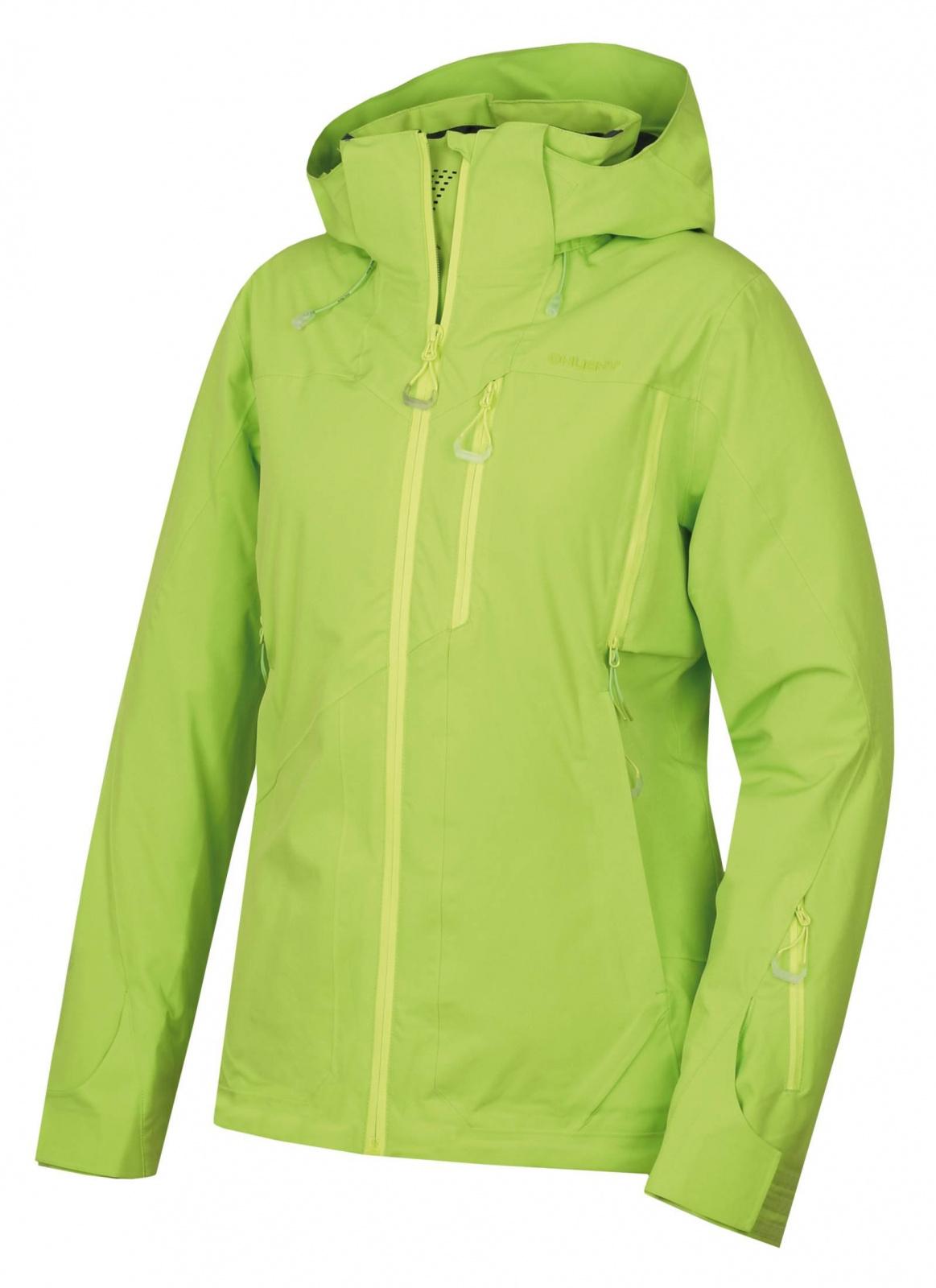 Husky Montry L výrazne zelená, M Dámska hardshell plnená bunda