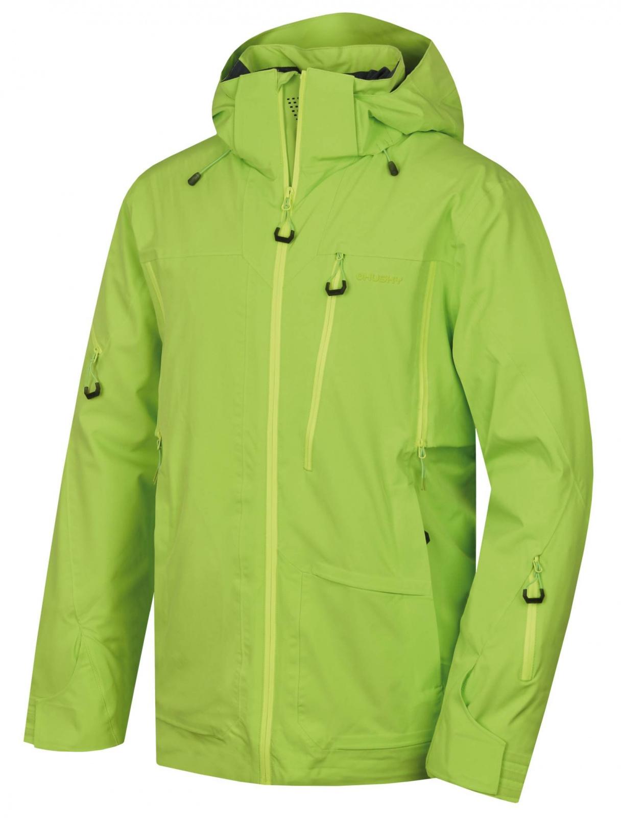 Husky Montry M zelená, XXL Pánska lyžiarska bunda