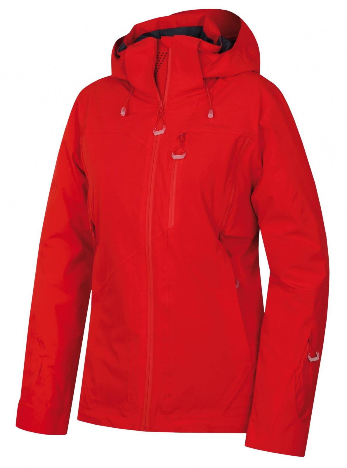 Husky Montry L červená, XL Dámska hardshell plnená bunda