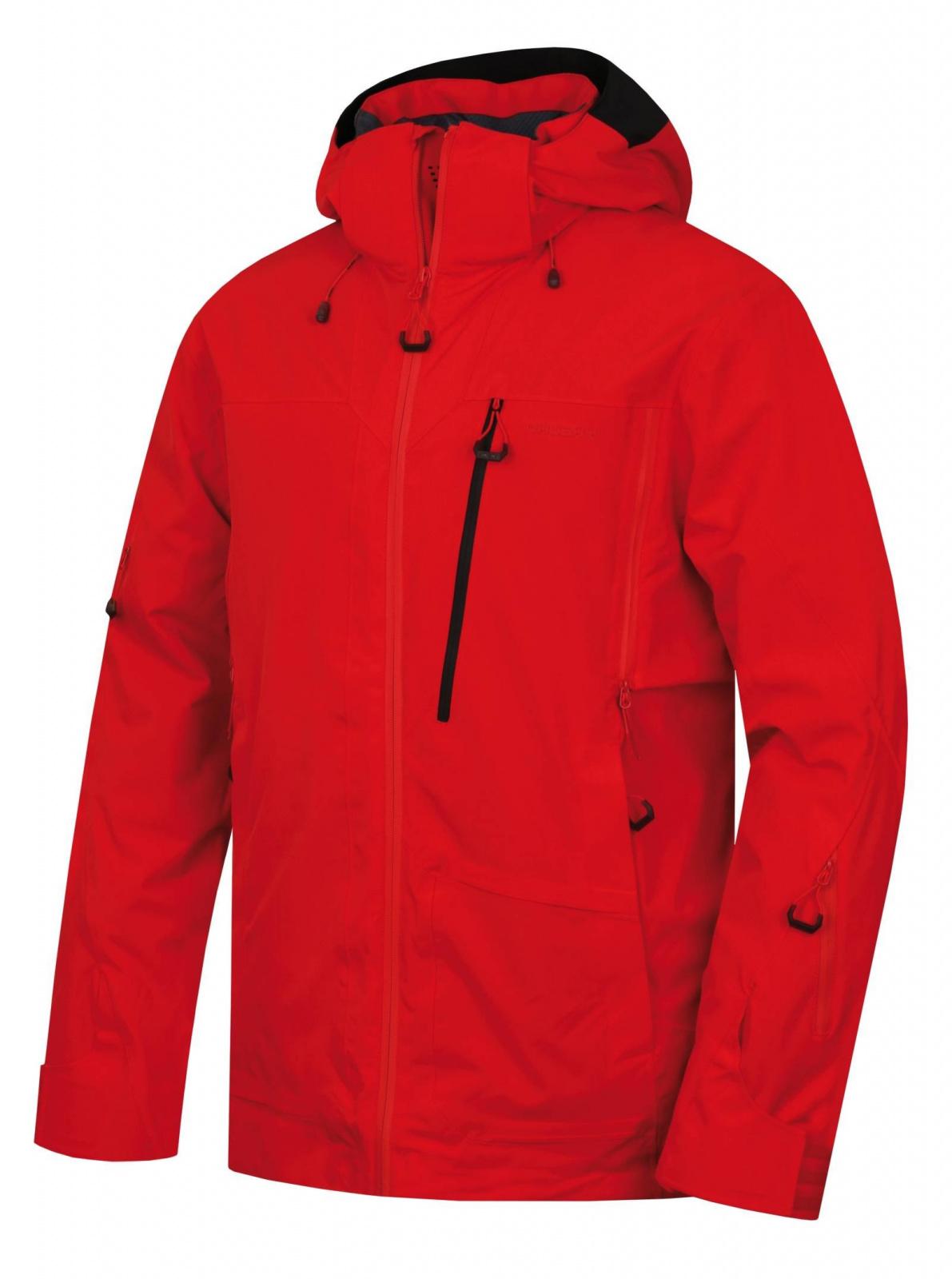 Husky Montry M červená, XXL Pánska lyžiarska bunda