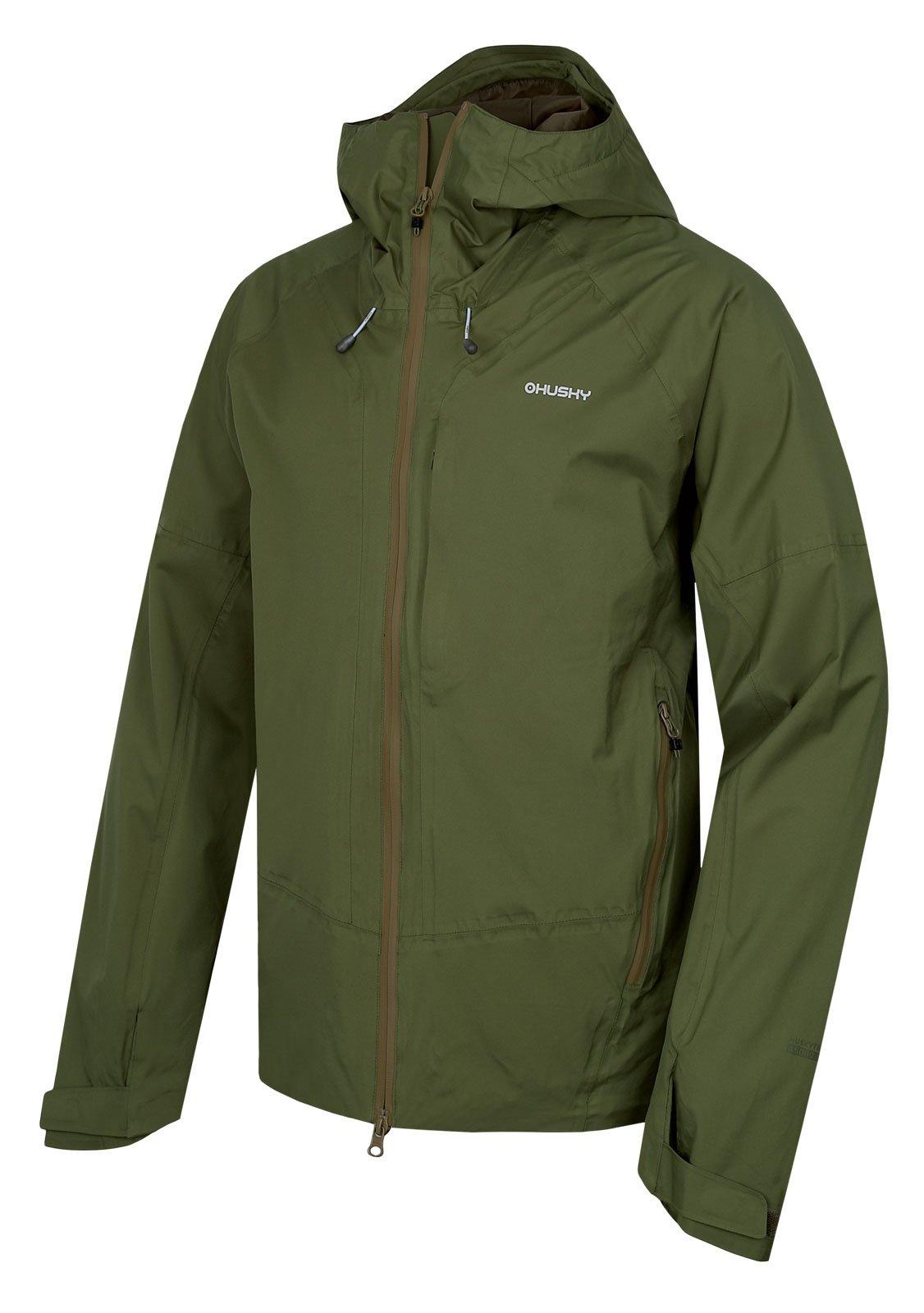 Husky Nicker M tm.zelená, XXL Pánska hardshellová bunda