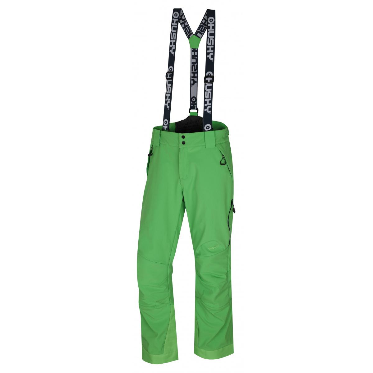 Husky Galti M sv. zelená, XXL Pánske lyžiarske nohavice