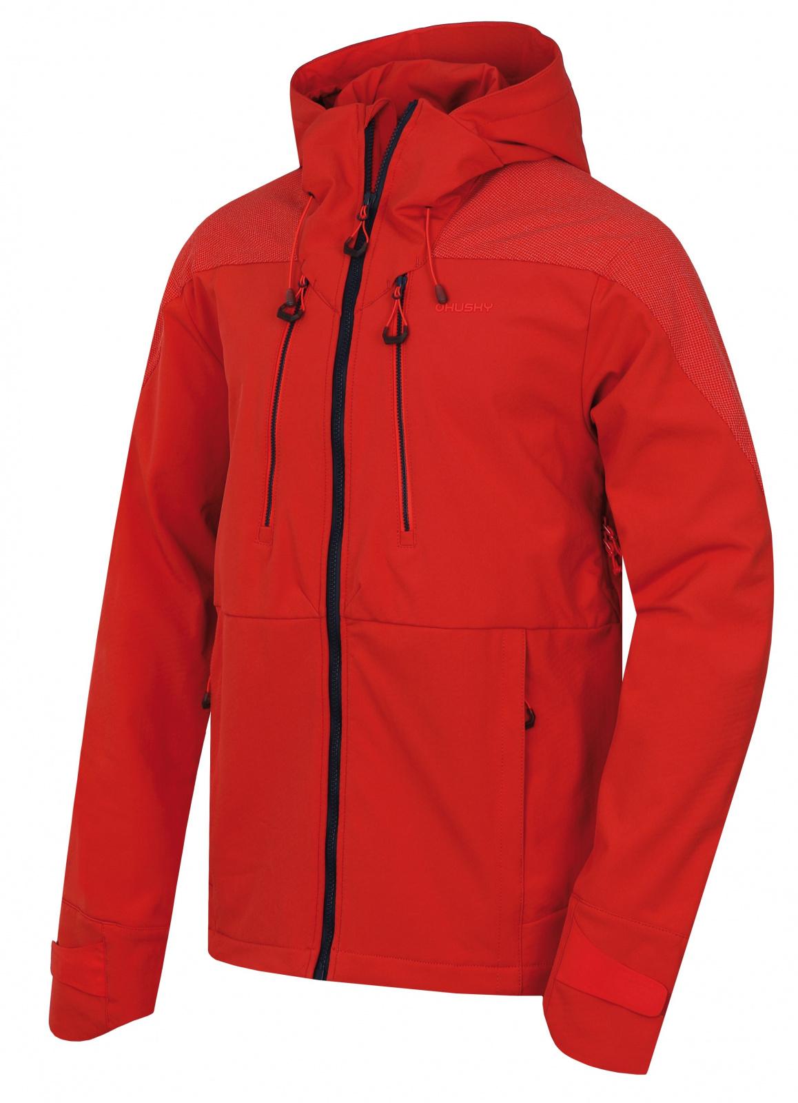 Husky Sevan M výrazne tehlová, XL Pánska softshell bunda