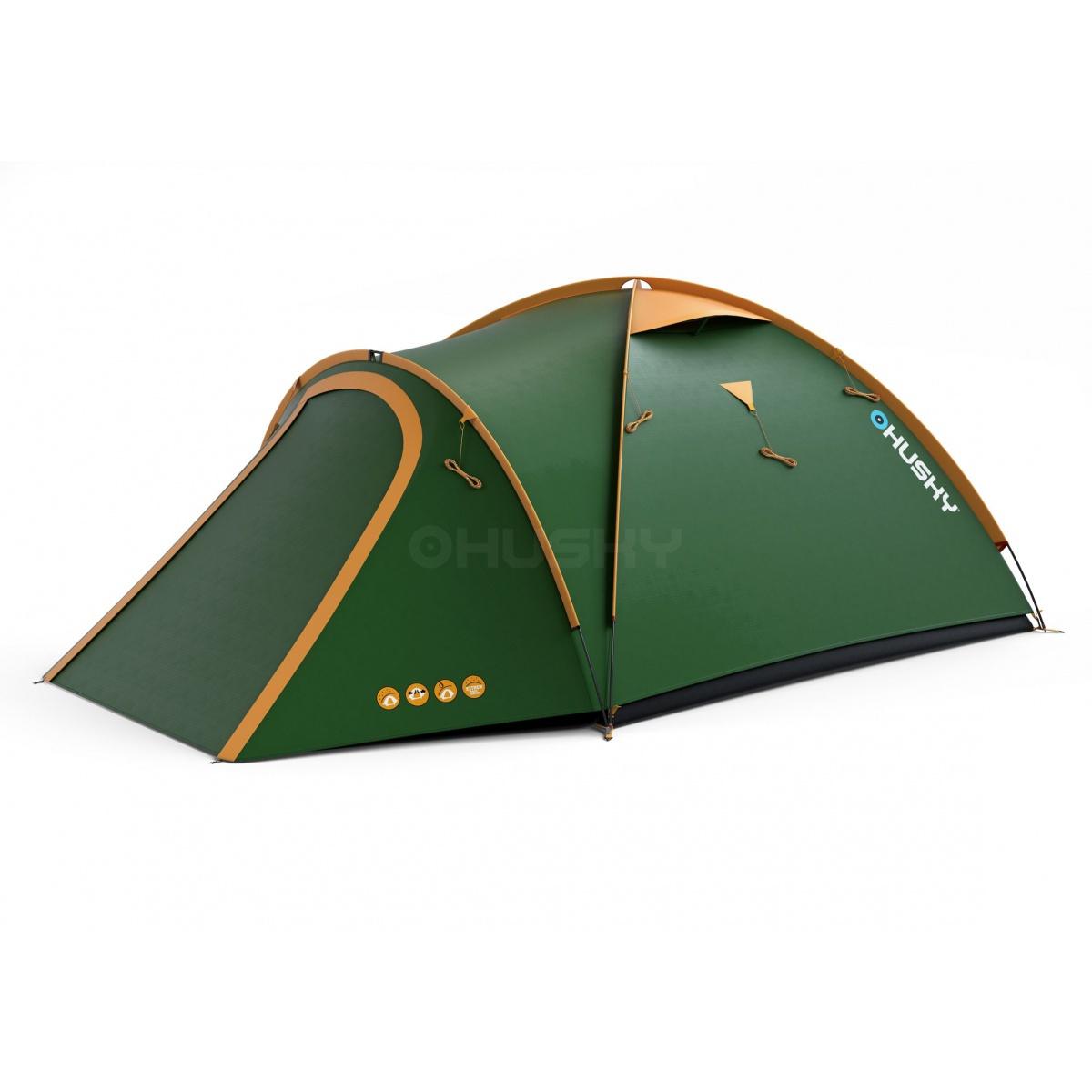 Husky Bizon 4 classic zelená Stan Outdoor