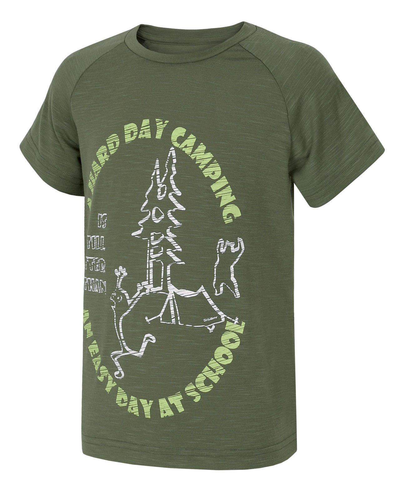 Husky Zingl Kids tm.zelená, 122 Detské tričko