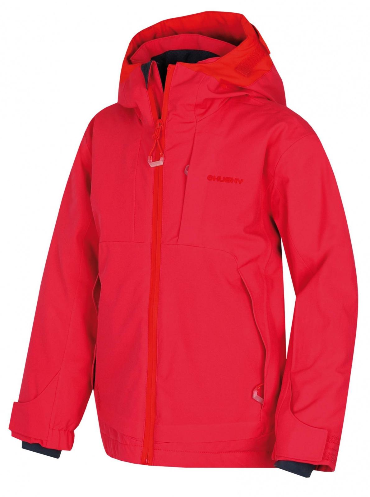 Husky Zisi Kids výrazne ružová, 122-128 Detská ski bunda